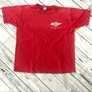 Vintage 1980's red Physical Education TN T-shirt